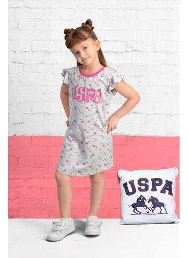 U.S. Polo Assn. U.S. Polo Assn Lisanslı Açık Gri Kız Çocuk Gecelik Gri